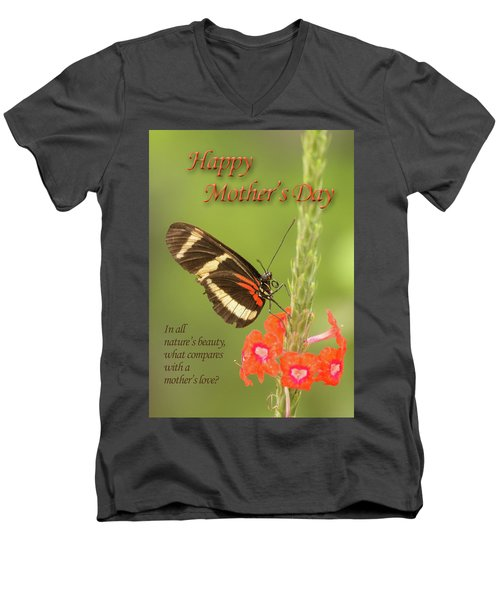 Mother's Day-butterfly Men's V-Neck T-Shirt
