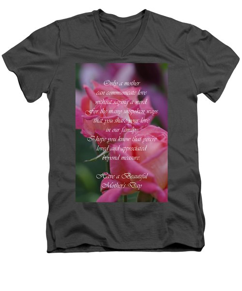 Men's V-Neck T-Shirt featuring the photograph Mother's Day Card 6 by Michael Cummings
