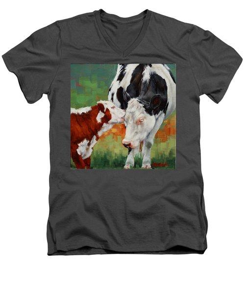 Mothers Little Helper Men's V-Neck T-Shirt by Margaret Stockdale