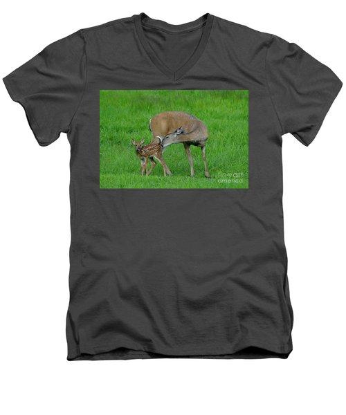 Mother's Love Men's V-Neck T-Shirt by Sandra Updyke