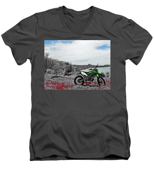 Motocross Men's V-Neck T-Shirt