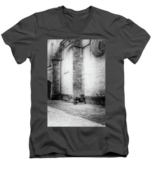 Motorcycles Also Like To Pray Men's V-Neck T-Shirt by Celso Bressan