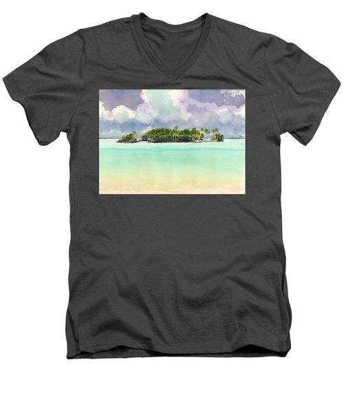 Motu Rapota, Aitutaki, Cook Islands, South Pacific Men's V-Neck T-Shirt
