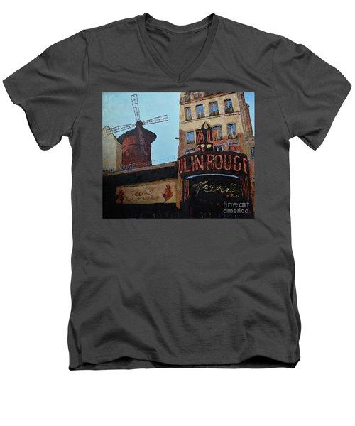 Moulin Rouge Men's V-Neck T-Shirt