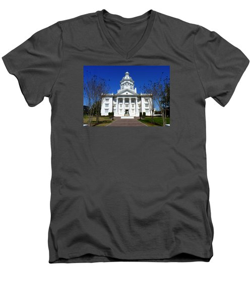 Moultrie Courthouse Men's V-Neck T-Shirt by Carla Parris