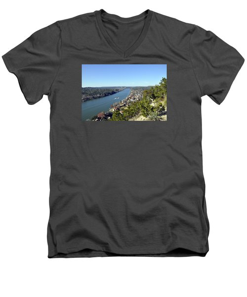 Mount Bonnell Men's V-Neck T-Shirt