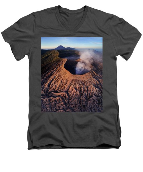 Mount Bromo At Sunrise Men's V-Neck T-Shirt