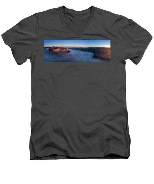 Mount Bromo Scenic View Men's V-Neck T-Shirt
