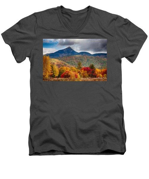 Peak Fall Colors On Mount Chocorua Men's V-Neck T-Shirt
