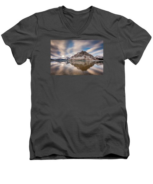 Mount Crowfoot Reflection Men's V-Neck T-Shirt