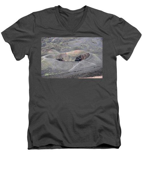 Mount Etna Caldera Men's V-Neck T-Shirt
