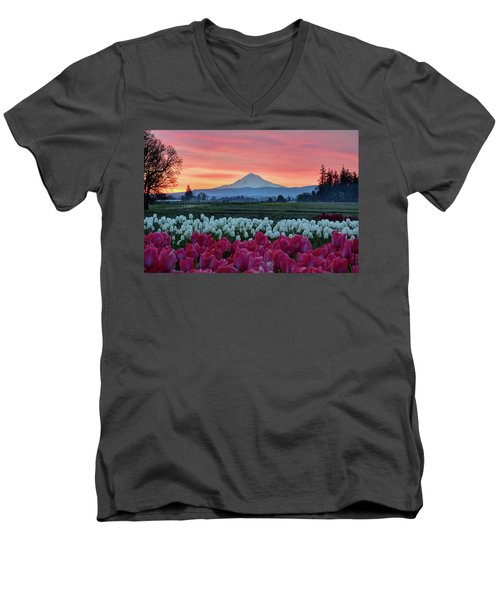 Mount Hood Sunrise Men's V-Neck T-Shirt