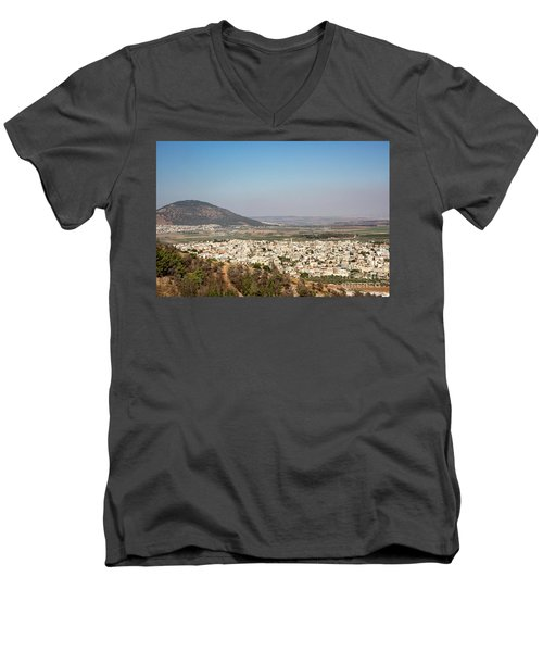 Men's V-Neck T-Shirt featuring the photograph Mount Of Ascension by Mae Wertz