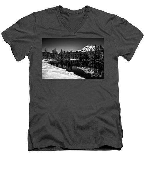 Mount Rainier Reflection Men's V-Neck T-Shirt