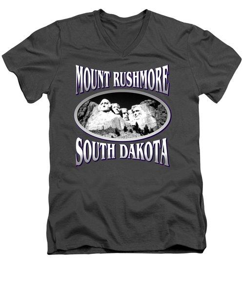 Mount Rushmore South Dakota - Tshirt Design Men's V-Neck T-Shirt by Art America Gallery Peter Potter