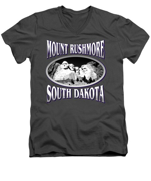 Mount Rushmore South Dakota Design Men's V-Neck T-Shirt