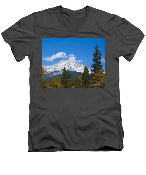 Mount Shasta California Men's V-Neck T-Shirt