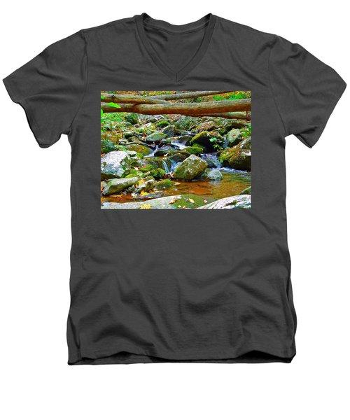 Mountain Appalachian Stream 2 Men's V-Neck T-Shirt