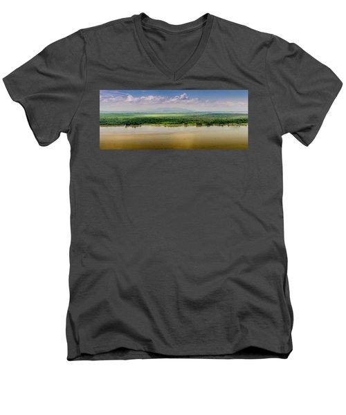 Mountain Beyond The River Men's V-Neck T-Shirt