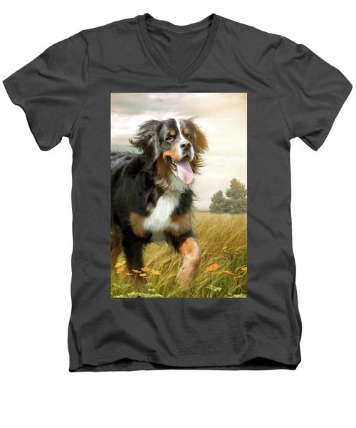 Mountain Dog Men's V-Neck T-Shirt