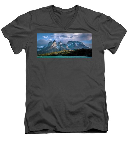 Men's V-Neck T-Shirt featuring the photograph Mountain Dream by Andrew Matwijec