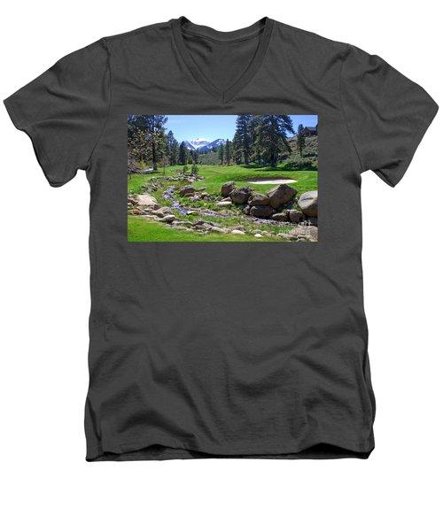 Mountain Golf Course Men's V-Neck T-Shirt