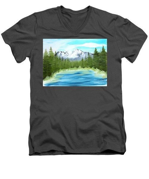 Mountain Imagining Men's V-Neck T-Shirt