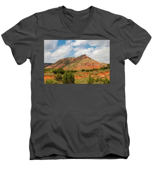 Mountain In Palo Duro Canyons Men's V-Neck T-Shirt