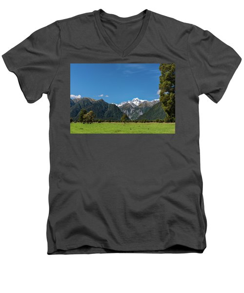 Men's V-Neck T-Shirt featuring the photograph Mountain Landscape by Gary Eason