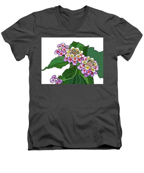 Mountain Laurel Men's V-Neck T-Shirt by Jamie Downs