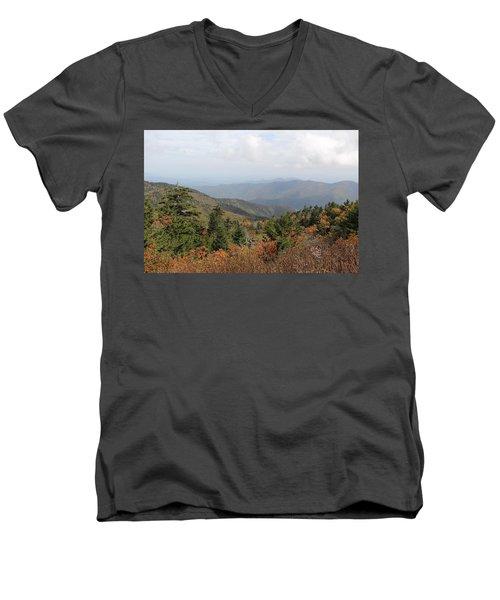 Mountain Long View Men's V-Neck T-Shirt