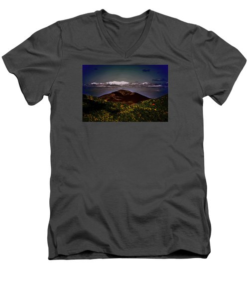 Men's V-Neck T-Shirt featuring the photograph Mountain Of Love by B Wayne Mullins