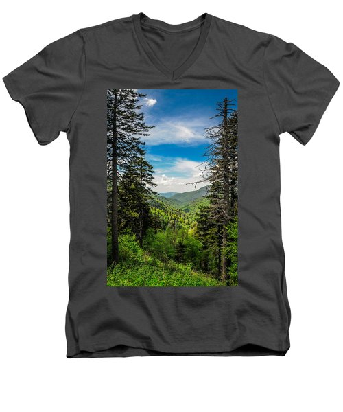 Mountain Pines Men's V-Neck T-Shirt