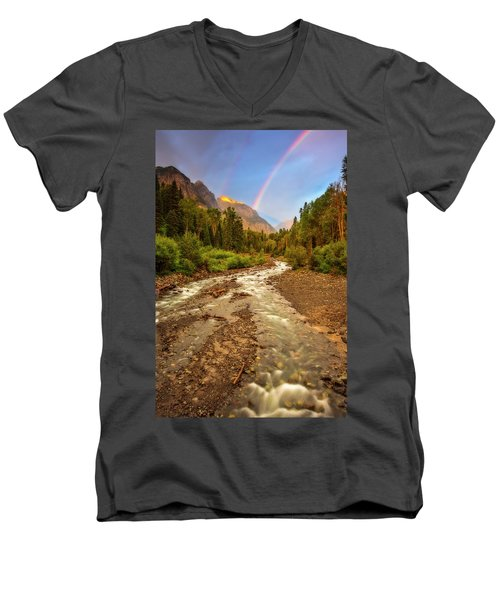 Mountain Rainbow Men's V-Neck T-Shirt