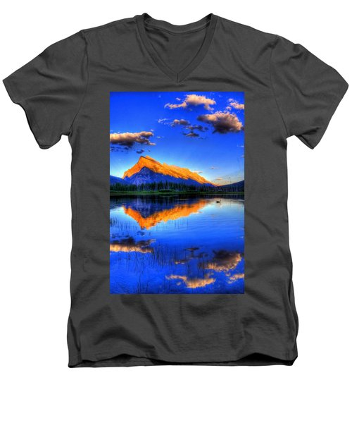Mountain Reflection Men's V-Neck T-Shirt