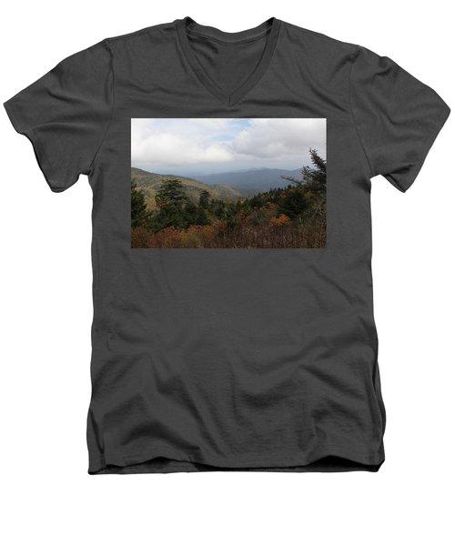 Mountain Ridge View Men's V-Neck T-Shirt