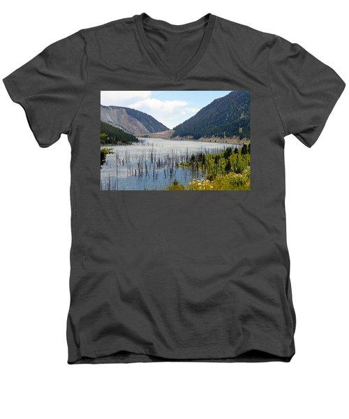 Mountain River Men's V-Neck T-Shirt