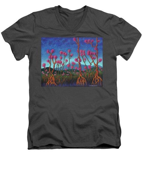 Mountain Roots 01 Men's V-Neck T-Shirt