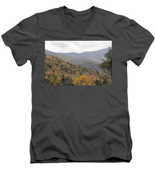 Mountain Side Long View Men's V-Neck T-Shirt