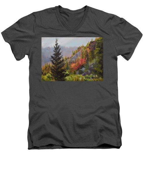 Mountain Slope Fall Men's V-Neck T-Shirt