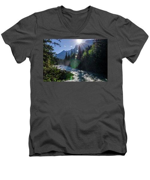Mountain Sunburst Men's V-Neck T-Shirt