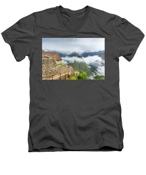 Mountain View. Men's V-Neck T-Shirt