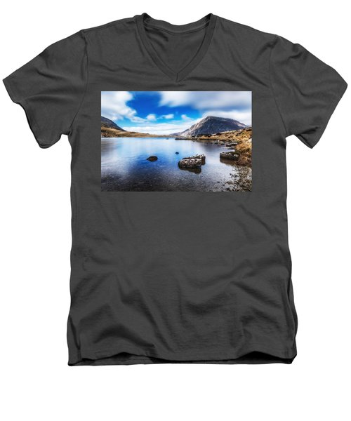 Men's V-Neck T-Shirt featuring the photograph Mountain View by Nick Bywater