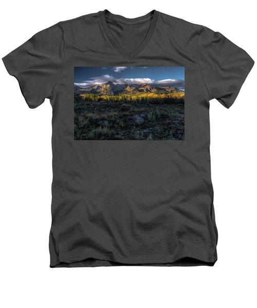 Mountains At Sunrise - 0381 Men's V-Neck T-Shirt