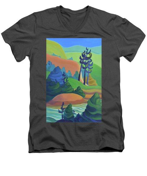 Hills In Spring Men's V-Neck T-Shirt