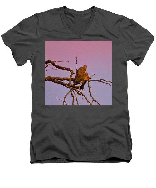 Mourning Doves Men's V-Neck T-Shirt