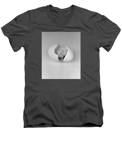 Men's V-Neck T-Shirt featuring the photograph Mouse House by Michael Swanson