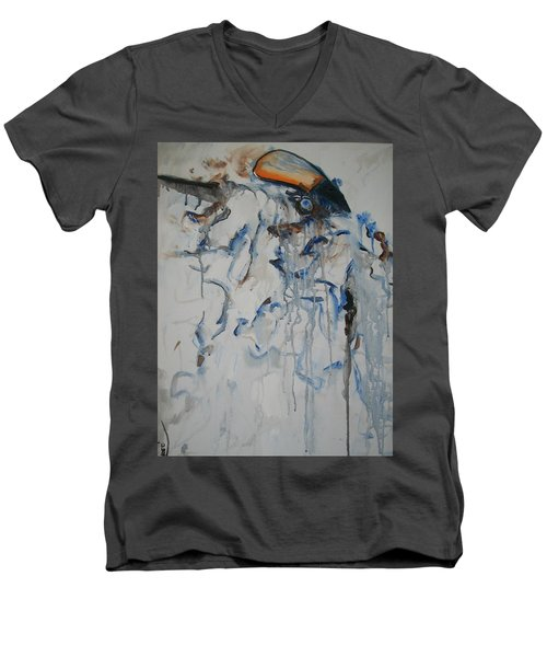 Moving Forward Men's V-Neck T-Shirt by Raymond Doward