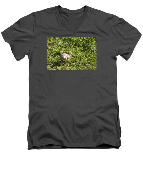 Men's V-Neck T-Shirt featuring the photograph Moving by Leif Sohlman