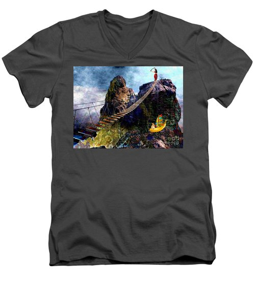 Moving Sideways Men's V-Neck T-Shirt